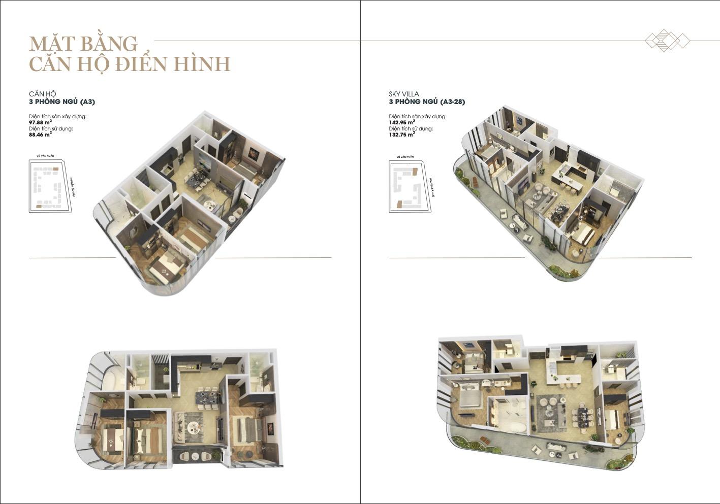Mặt bằng 3D căn hộ